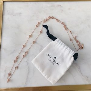 Kate Spade Gatsby Rose Gold Scatter Necklace